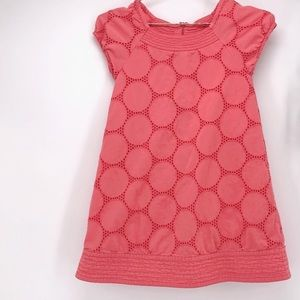 Mini boden eyelet coral lace dress 9-10Y